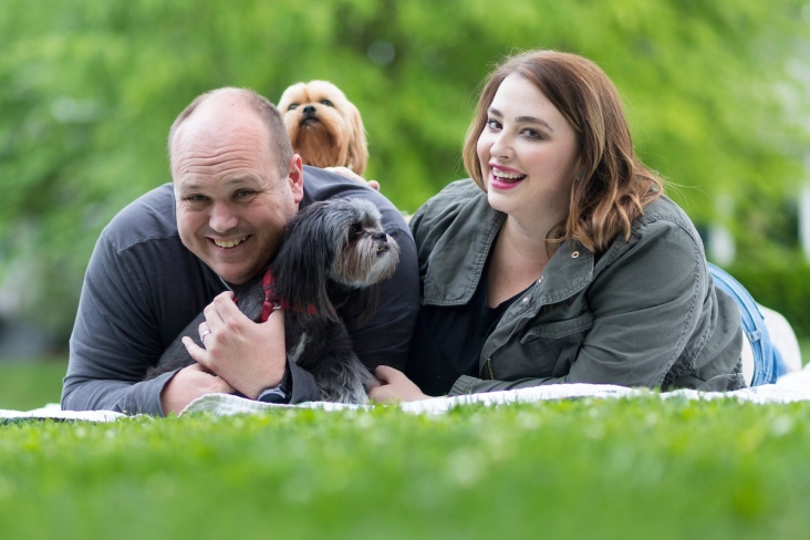 John and Kate Ashton pose for adoption photos.